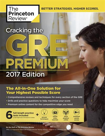 ing the GRE Premium Edition with 6 Practice Tests, 2017