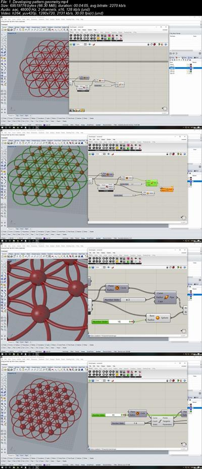 Rhino 3D Grasshopper flower of life and other patterns full