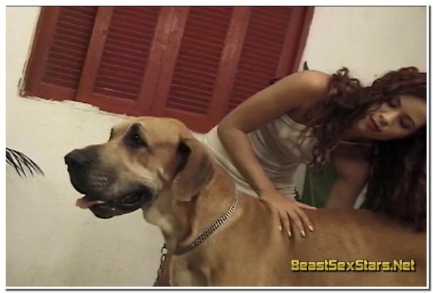 AnimalFlix.Com - Big Dog And Hot Girl