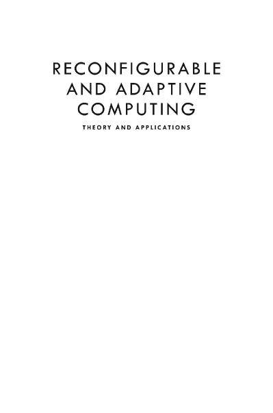 Reconfigurable and Adaptive Computing Theory and Applications