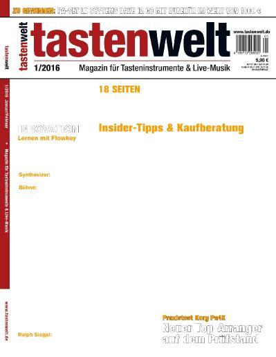 Tastenwelt  Nr 1 (2016)