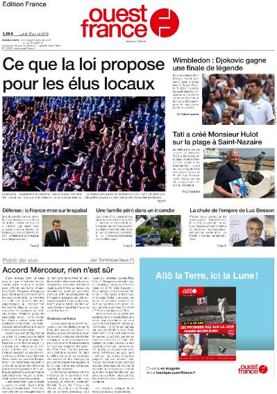 Ouest France   2019 07 15