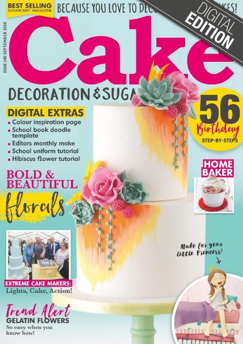 Cake Decoration & & Sugarcraft  September (2018)