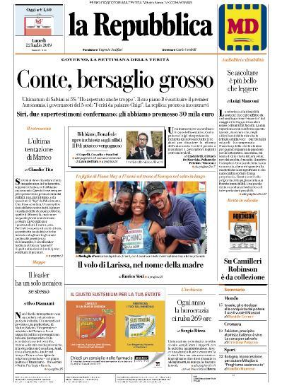 la Repubblica   22 07 (2019)