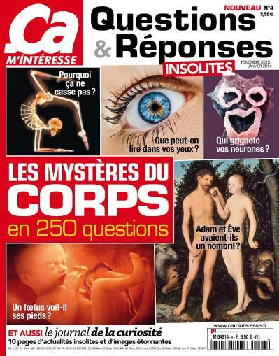 199 a M Int 2! resse Questions et R 2! ponses N 4  Les Myst 232 res Du Corps