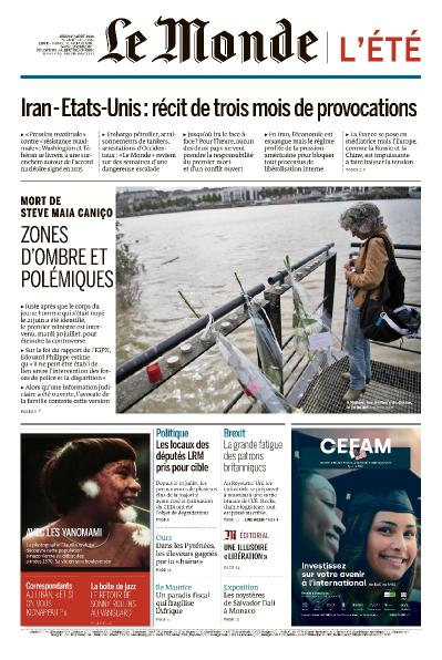 Le Monde   01 08 (2019)
