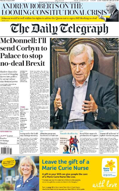 The Daily Telegraph   08 08 (2019)