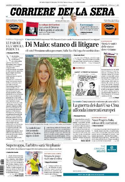 Corriere della Sera   03 08 (2019)