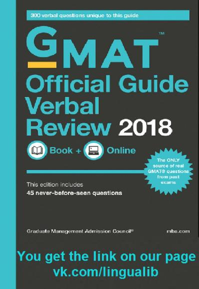 GMAT Official Guide Verbal Review 2018 final   facebook com LinguaLIB