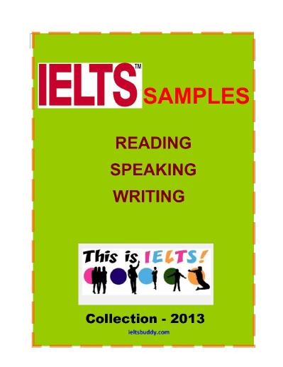 ielts s&les reading speaking and writing