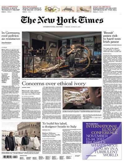 International New York Times  8 August (2017)