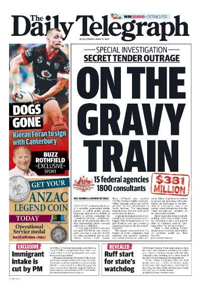 The Daily Telegraph Sydney  April 21 (2017)