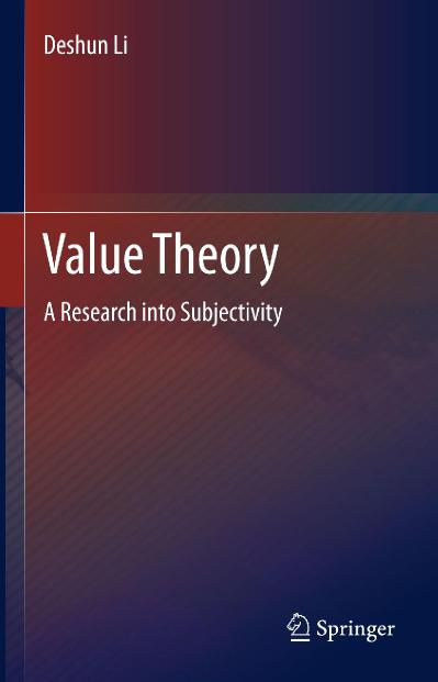 Value Theory A Research into Subjectivity