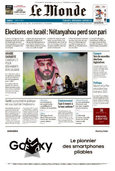Le Monde - 19 09 (2019)