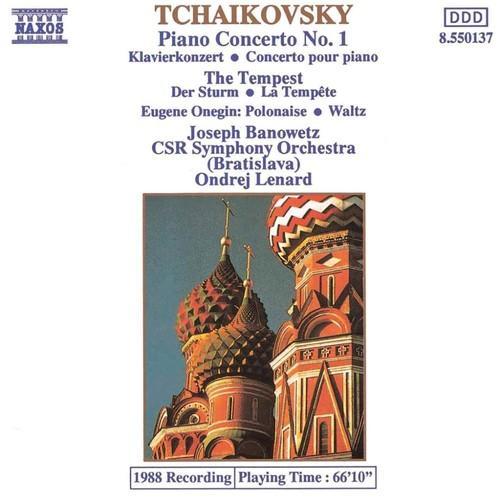 Tchaikovsky   Piano Concerto No  1, The Tempest, Eugene Onegin   Slov Radio Sympho...