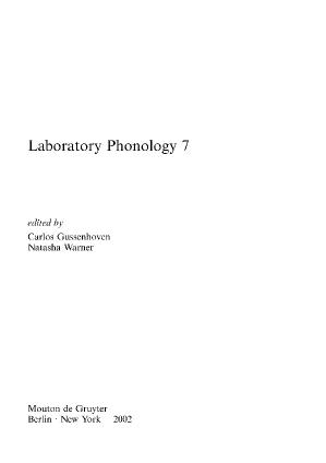 Laboratory Phonology VII